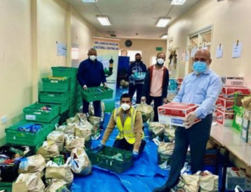 Support gives family enough food for the week, making them smile